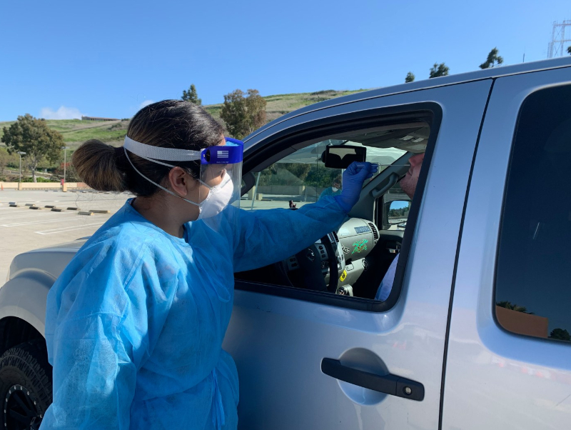 Private medical group offers drive-up coronavirus testing in Rolling Hills Estates